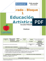 Plan 5to Grado - Bloque 1 Educación Artística.doc