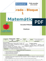 Plan 5to Grado - Bloque 1 Matemáticas.doc