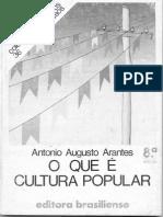O Que e Cultura Popular Antonio Augusto Arantes Neto