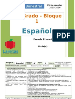 Plan 4to Grado - Bloque 1 Español (2015-2016).doc
