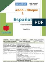 Plan 4to Grado - Bloque 1 Español (2015-2016).doc
