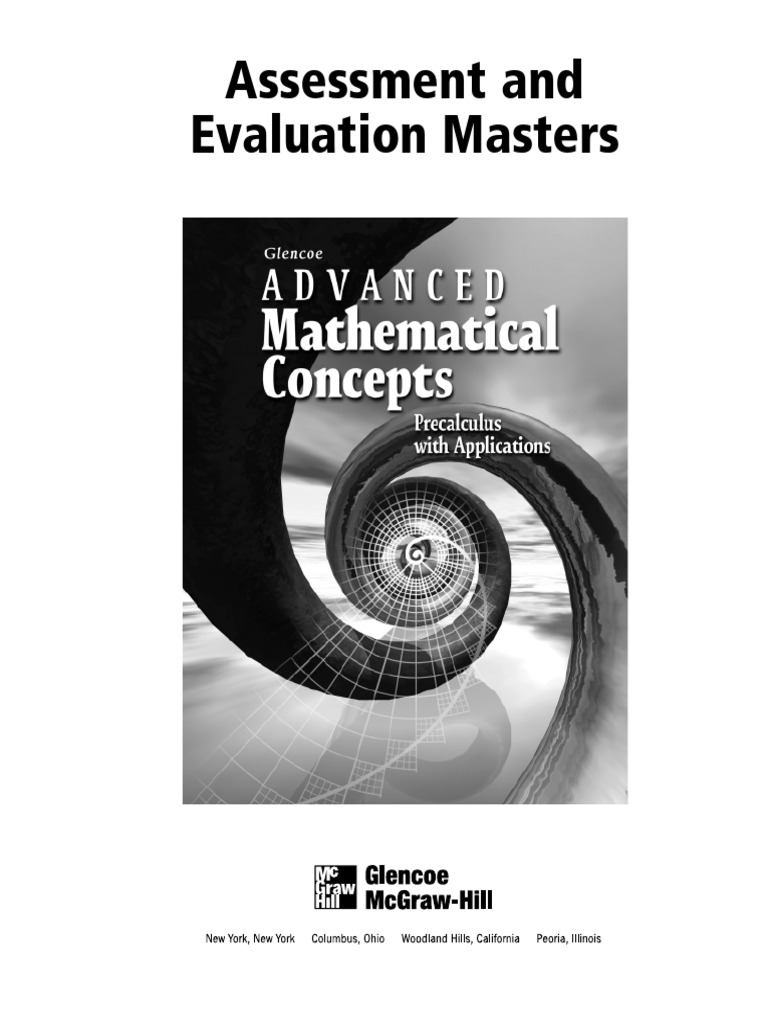 Advanced Math Cocepts Evaluation | Fraction (Mathematics) | Function
