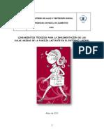 Lineamientos Técnicos Para La Implementación de Las Salas Amigas de La Familia Lactante en El Entorno Laboral
