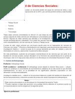 Carreras disponibles en la Facultad de Ciencias Sociales de la Universidad Nacional de Trujillo (Perú)