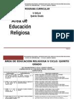 Educación Religiosa 5º Grado