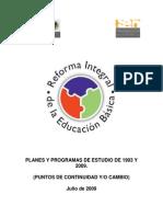 Plan y Programas de Estudios 93 y 2009