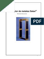 Manual DATAX-4 Todo Metal