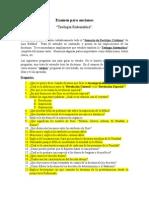 Examen Para Ancianos Teología Sistemática.