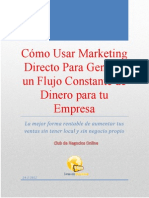 Como usar Marketing Directo