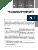 Diaz & Ramirez - Déjala Decidir. Análisis Constitucional Despenalización Aborto Casos Violación (2015)