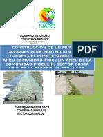 Modelo Proy Muro de Gaviones Rio Anzu