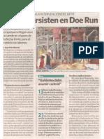 Dudas persisten en Doe Run - La República - 27-01-2010
