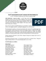 TOTC2015- Spirited Awards - Judging Committee Release