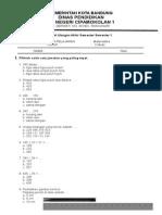 Soal Uas Matematika Kelas 2 Smtr 1