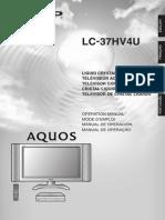 Manual tv Sharp 37 pulgada