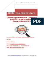 China Ethylene Diamine Tetraacetic Acid (EDTA) Industry Market Research Report 2015