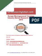 Europe Meningococcal Vaccines Industry Market Research Report 2015