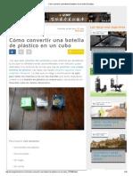 Cómo Convertir Una Botella de Plástico en Un Cubo _ Ecología