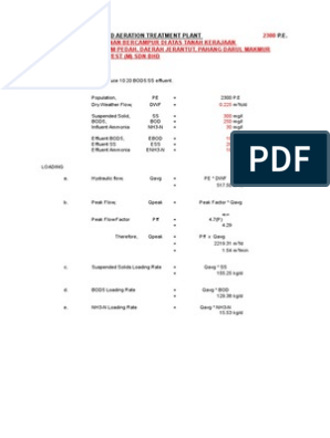 Design Cal_2300PE xls | Pump | Volume