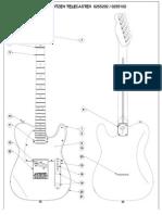 Planos Fender Telecaster Richie Kotzen Signature