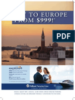 Fly to Europe for only $999 per person!