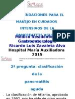 Resumen Recomendaciones Manejo en c. Intensivos de La Pa
