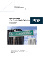Lean Leadership -The Toyota Way in Agricultural Firms