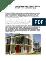 Iklan Dijual Rumah Di Pantai Indah Kapuk, 2 Miliar an Rumah Brand in New- Fasilitas Lengkap