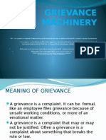 Grievance Machinery report
