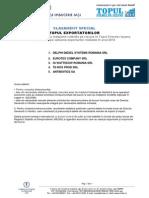 Clasament Special Exportatori
