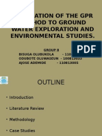 Application of the Gpr Method to Ground Water II