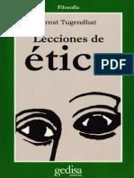 Tugendhat Lecciones de Ética