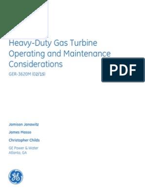 Ge-9e Maintenance Manual | Gas Turbine | Natural Gas