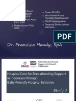 Kajian Kualitatif Dukungan Menyusui Di RS Melalui Program RS Sayang Bayi Di Indonesia