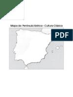 Mapa mudo da Península Ibérica