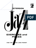 Oscar Peterson Jazz Exercises and Pieces for the Young Pianist Vol