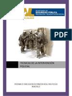 Técnicas de Intervención Policial. Jalisco.