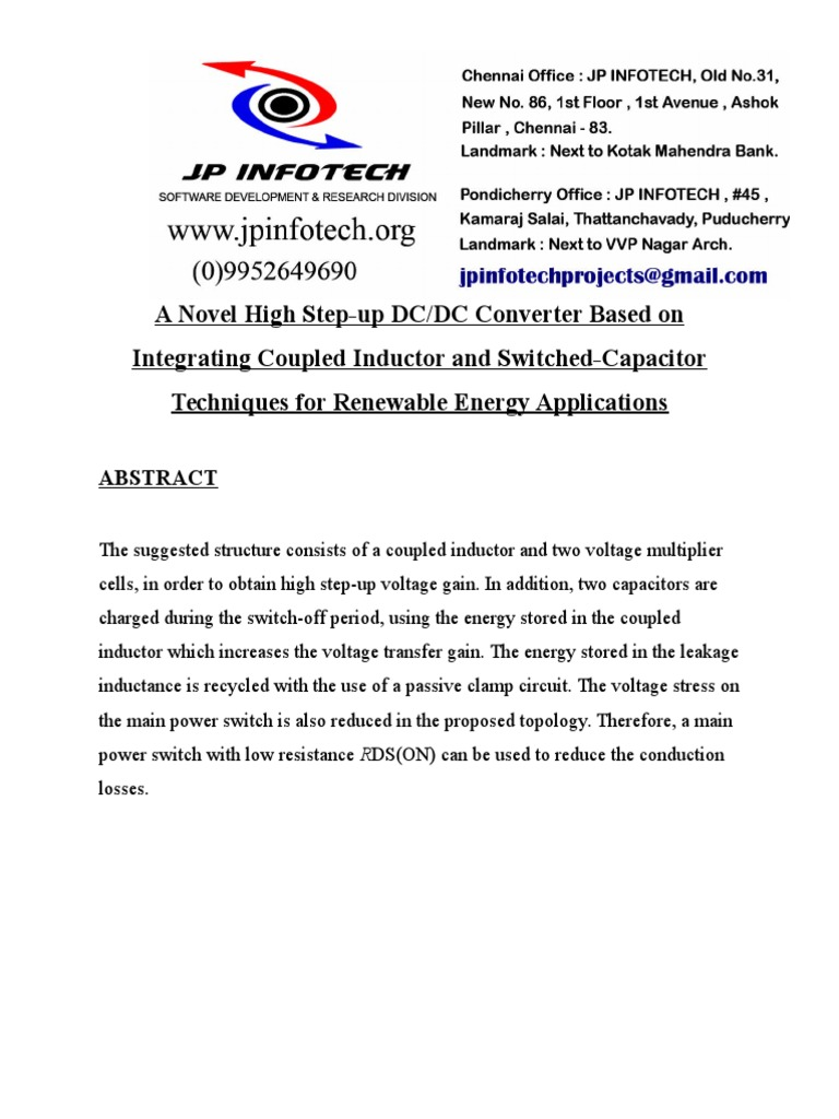 A Novel High Step Up Dcdc Converter Based On Integrating Inductor Inductance And Resistance In Dc Circuit Electrical Network