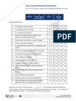 Individual Change Readiness Assessment