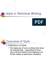 Lec 3-Style in Technical Writing