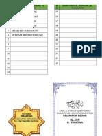 Buku Jariyah Majlis Ta'Lim