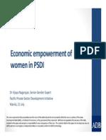 Economic empowerment of women in PSDI