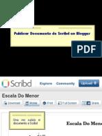 Como Publicar Documentos de Scribd en Blogger
