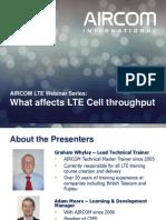 LTE Radio Capacity Throughput