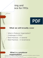 Trainning Material for Establishing and Governance of FPOs