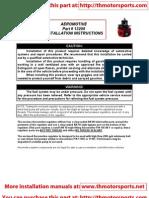 Aeromotive Installation Instruction Manual