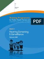 Unit 3 Hearing Screening and Surveillance