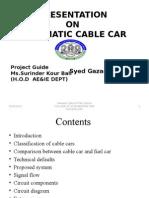 Cable Car Paper Presntation Ppt