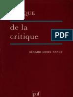Lexique de La Critique Littéraire