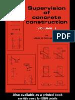 Supervision of Concrete Construction J.G. Richardson Volume 1 (1998)